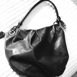 Authentic Coach Black Leather Parker Hobo Bag